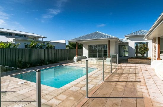 Pool area in Custom built home Hervey Bay - Steve Bagnall Homes