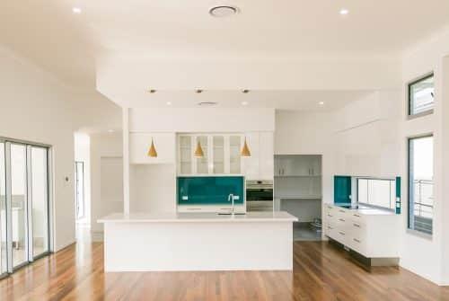 gorgeous blue & white kitchen - Custom built home Hervey Bay - Steve Bagnall Homes