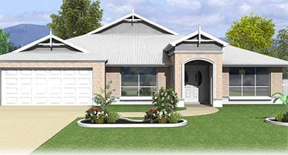 3d render of Olympus home plan - home plan Hervey Bay - Steve Bagnall Homes