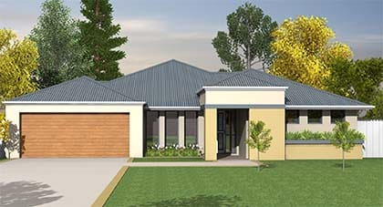 3d render of Nirvana Home plan - home plan Hervey Bay - Steve Bagnall Homes