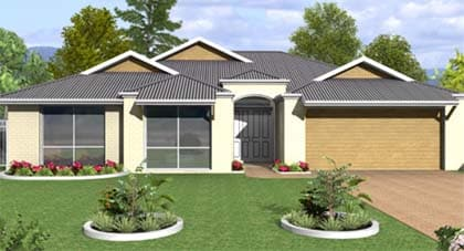 Lesmurdie 3d render home plan Hervey Bay - Steve Bagnall Homes