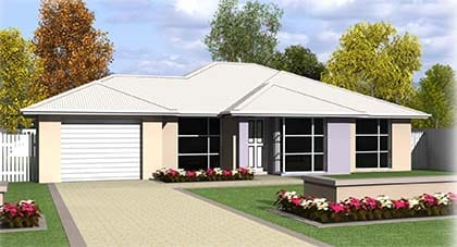 3d render of Lavita home plan Hervey Bay - Steve Bagnall Homes