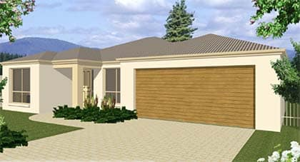 3d render of Launceston home plan Hervey Bay - Steve Bagnall Homes