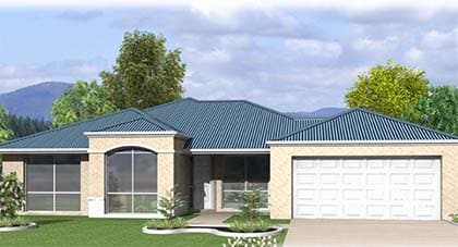 3d render of inglewood home plan - home plan Hervey Bay - Steve Bagnall Homes