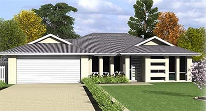 3d render - Carousel home - home plan Hervey Bay - Steve Bagnall Homes