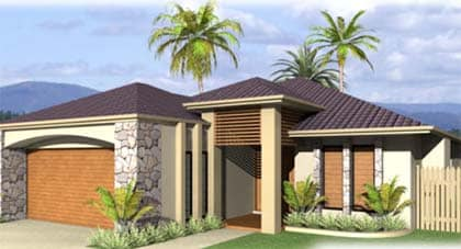 Atlantis 3D render of home plan Hervey Bay - Steve Bagnall Homes