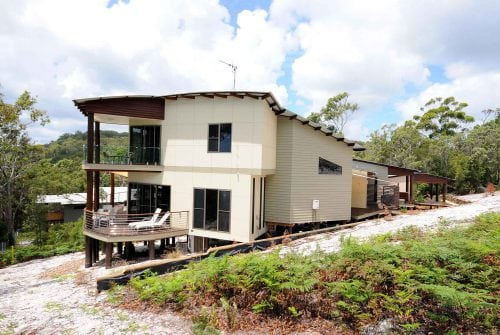 side of custom house on hill - Custom built home Hervey Bay - Steve Bagnall Homes