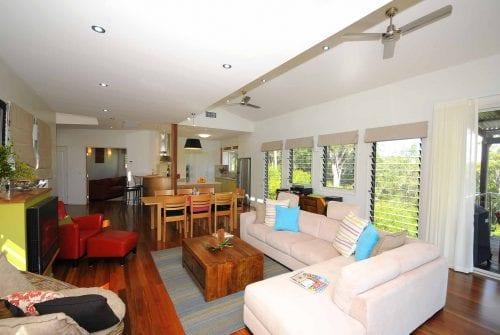 lounge & dining in Custom built home Hervey Bay - Steve Bagnall Homes