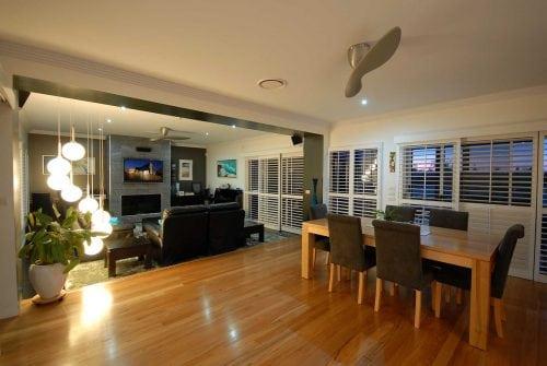 modern lounge - Custom built home Hervey Bay - Steve Bagnall Homes