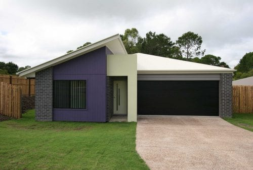 duo colour front of Custom built home Hervey Bay - Steve Bagnall Homes