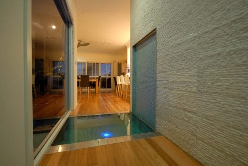 In home water feature Custom built home Hervey Bay - Steve Bagnall Homes