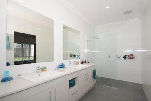 large two-sink ensuite - Custom built home Hervey Bay - Steve Bagnall Homes