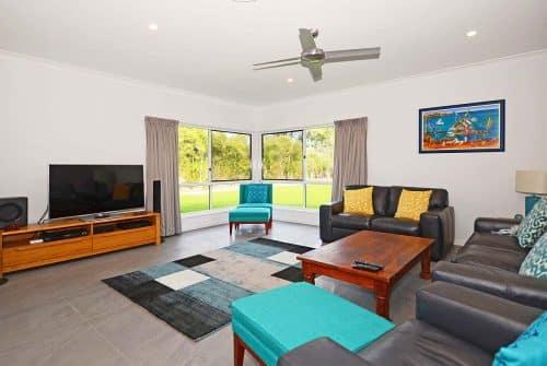 lounge room in inside entrance Custom built home Hervey Bay - Steve Bagnall Homes
